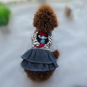 """Платье джинсовое """"Русалочка"""" для собак или кошек"""